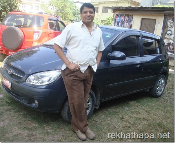 chhabi with rekha's car