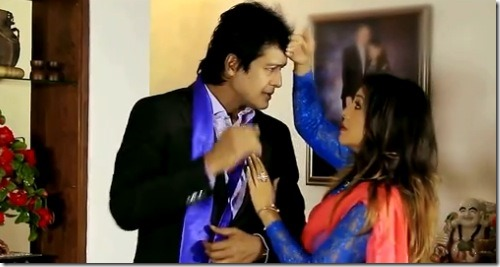 karisham-and-rajesh in music video