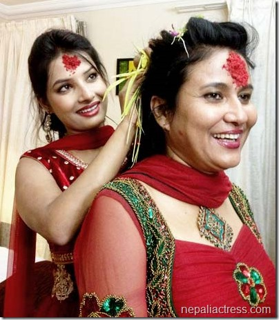 komal oli and sumina ghimire