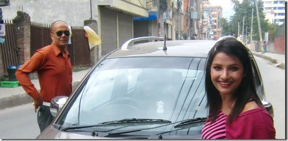 sumina with new car