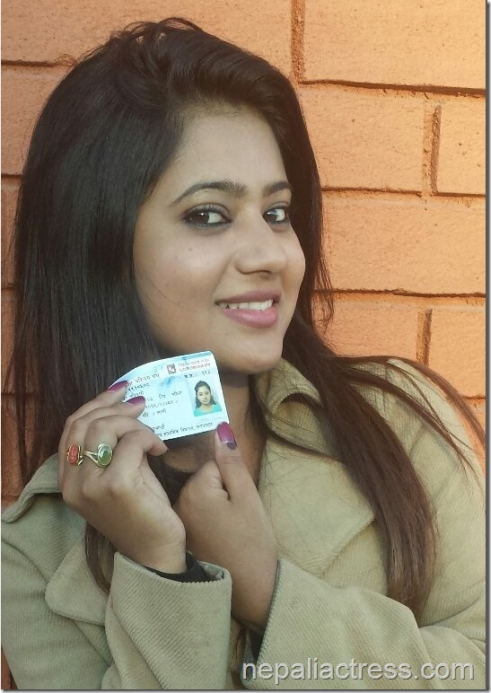 Keki-Adhikari-with-her-card-after-voting