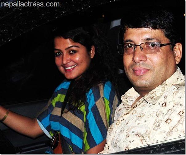 chhabi and rekha thapa driving together