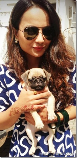 namrata sapkota with mika.