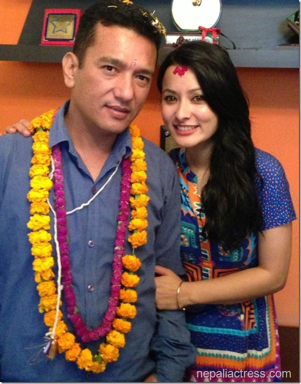 namrata shrestha tihar photo