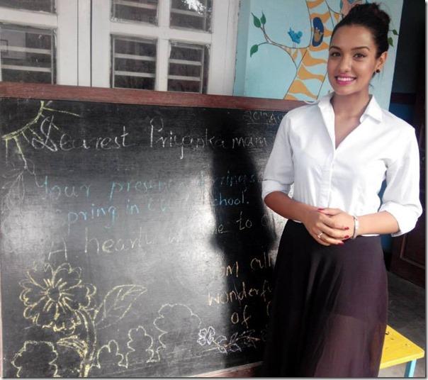 priyanka karki at life vision academy in her birthday