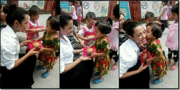 priyanka karki gifts to kids at school