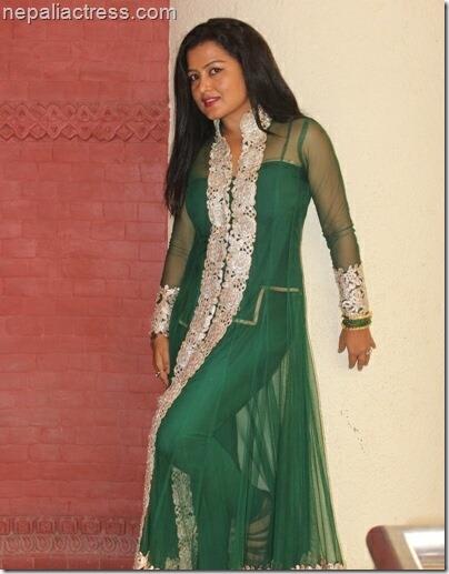 rekha green  kurta