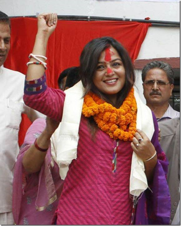rekha thapa after joining cpn maoist