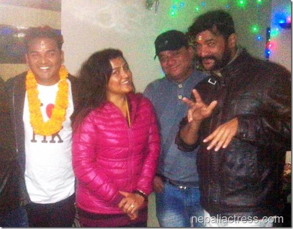 rekha thapa with shankar bc and kamal krishna bhaitika