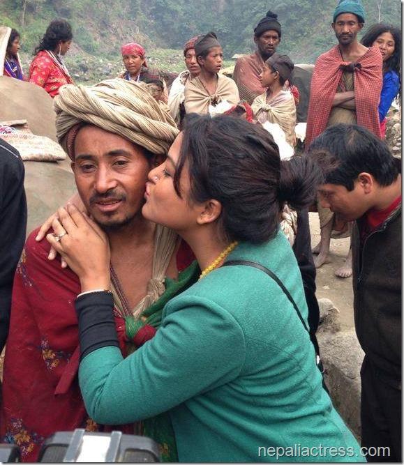 rekha thapa kissing raute guy