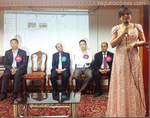 rekha thapa - speaking at the hong kong screening of Kali