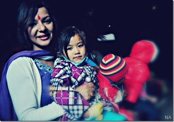 poojana pradhan with kids