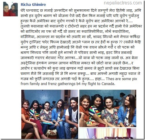 Richa ghimire - responds to reports