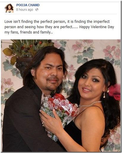 pooja chand valentine
