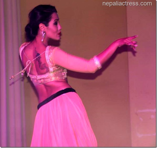priyanka karki tattoo on back