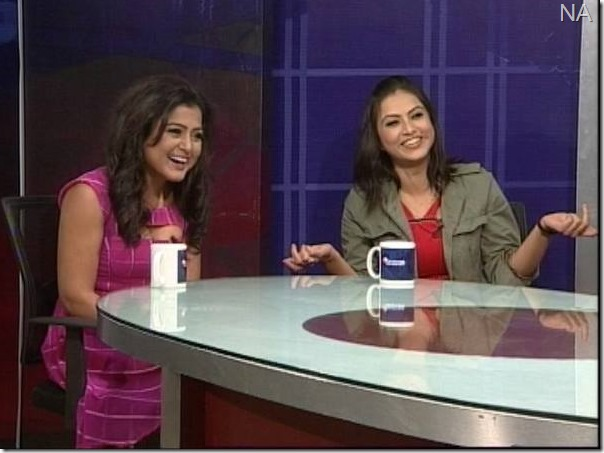 rekha thapa and nisha adhikari news24 talk show