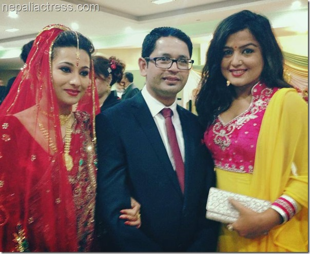 rekha thapa with rejina upreti and suraj