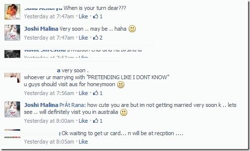 malina joshi marriage status in facebook - getting married very soon