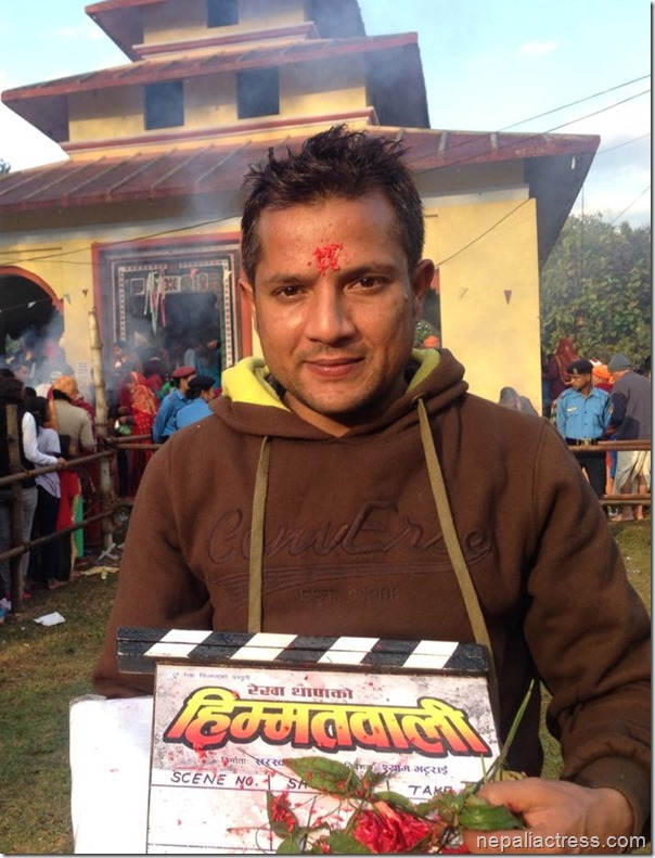 shyam bhattarai with himmatwali clapboard