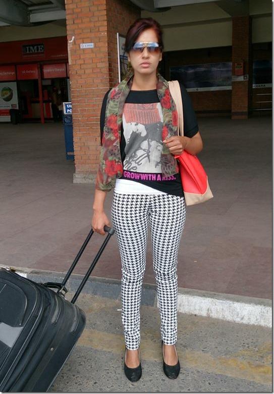 suvekshya thapa - in airport