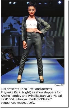 Priyanka Karki TGIF fashion week 2014 in Himalayan Times