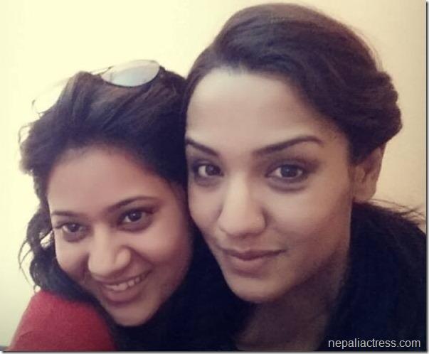 priyanka karki and keki adhikari selfie