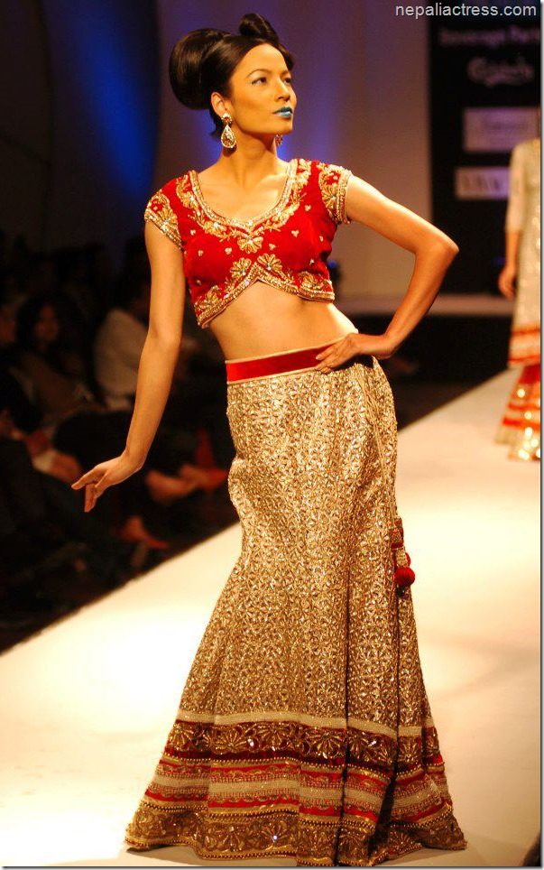 riju shrestha in a fashion show
