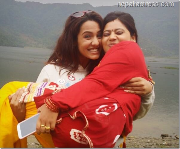 priyanka carries keki adhikari in fanko sets