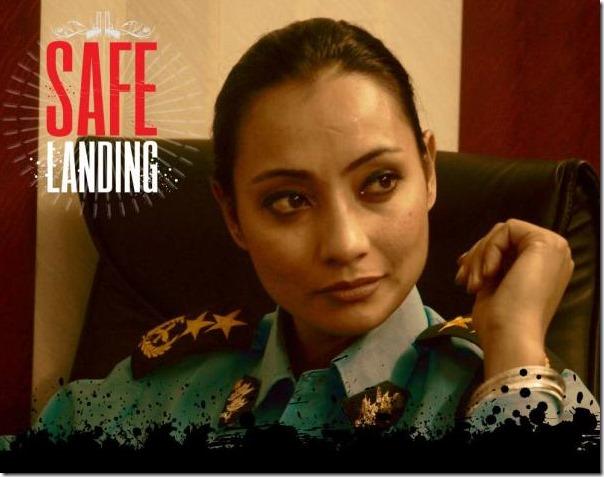 jharana thapa in safelanding poster