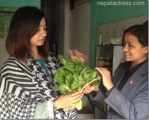 binita baral sells organagic vegetable