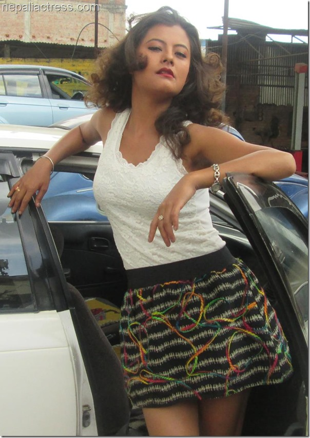 Sushma Karki car pose 1