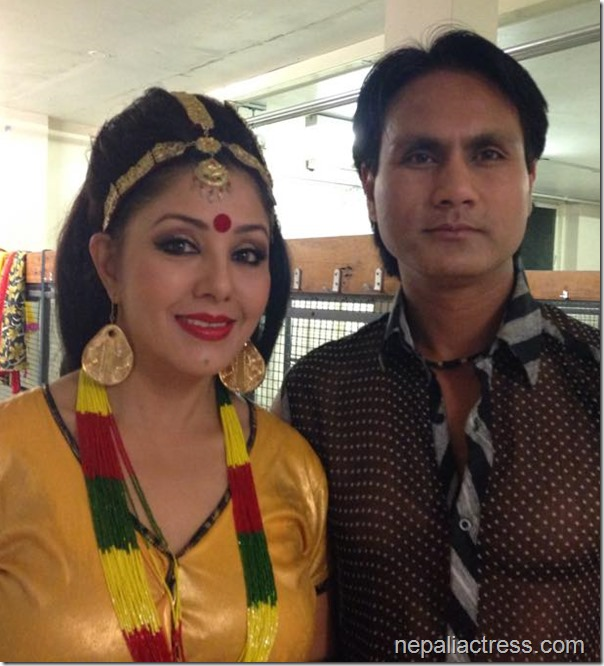 karishma manandhar and dhurba Dutta in UK - dashain tihar 2014