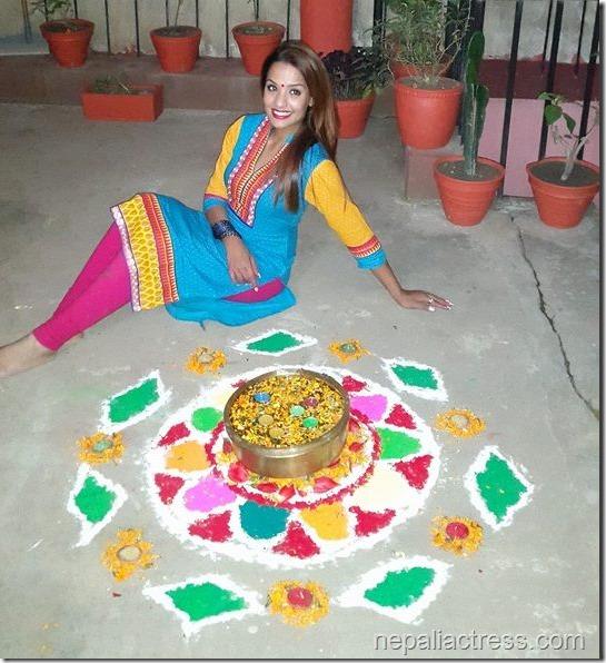 priyanka karki rangoli deepawali 2014 (6)
