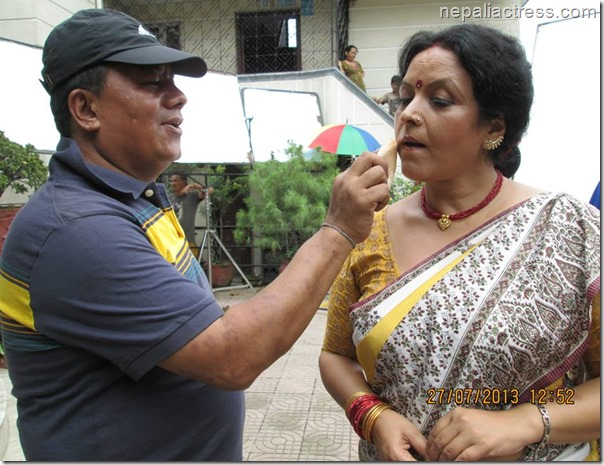 santu tamang and mithila sharma make up atrist