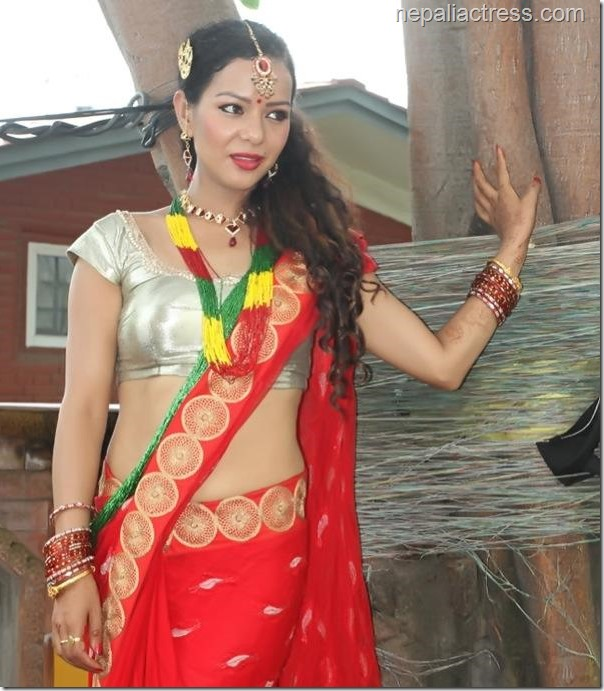 poojana pradhan in saree