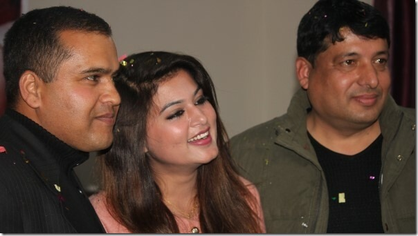 Shilpa pokharel with chhabi and rishi lamichane
