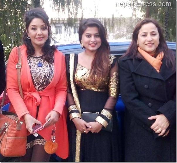 karishma mananadhar, shilpa pokharel and samjhana Upreti Rauniar