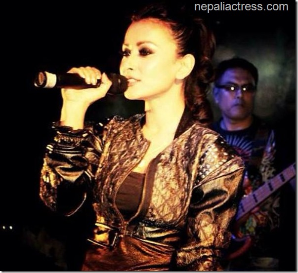 namrata shrestha singing in concert