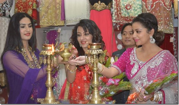 neeta jharana and garima inagurage fashion shop light