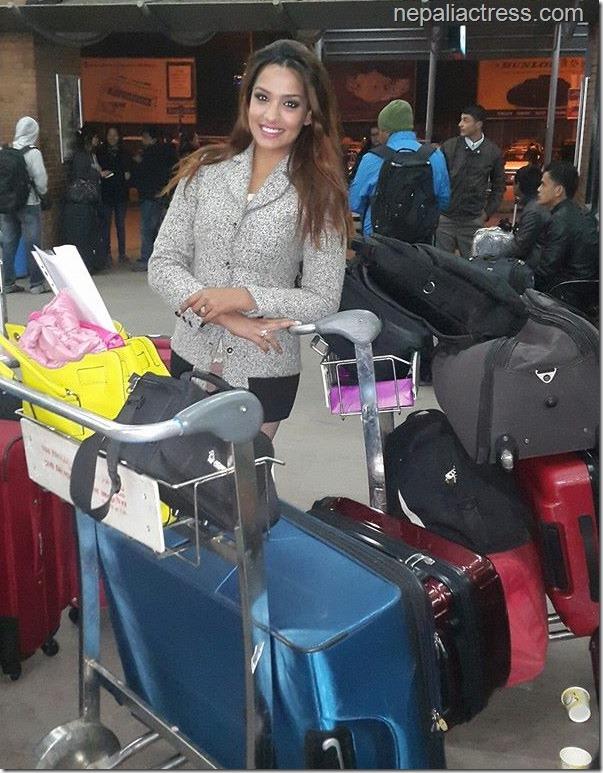 priyanka karki at TIA towards Malaysia