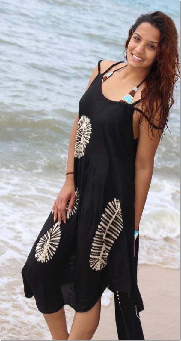 priyanka karki malaysia sea shore (1)