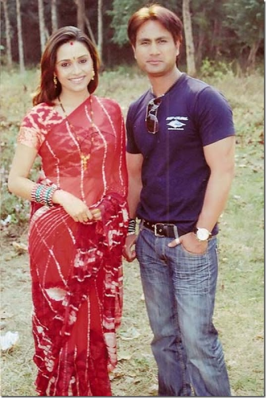 sanchita luitel with dhruba dutta