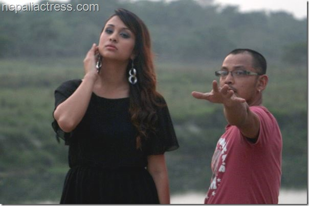 anu shah music video shooting chitwan (1)
