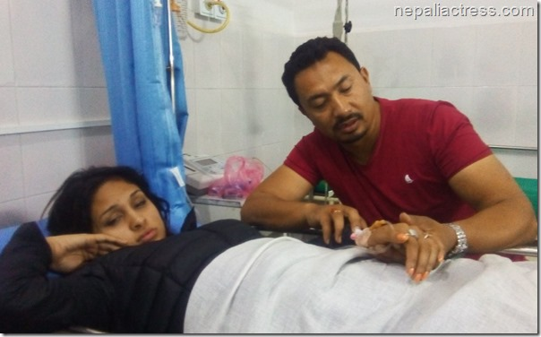 anu shah with nabin k shrestha hospital