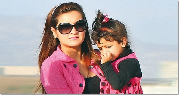 arunima lamsal with her daughter