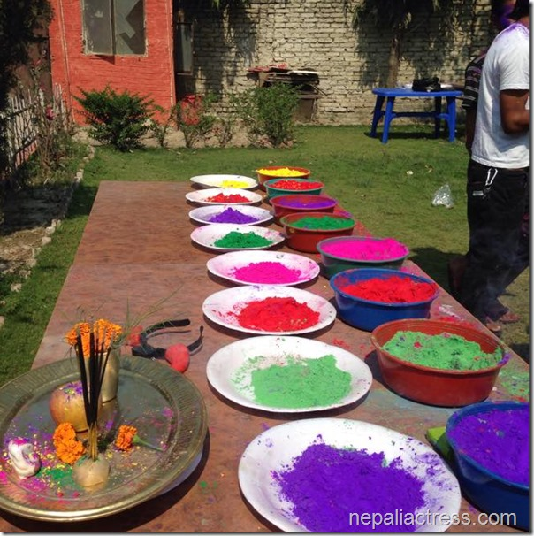 karishma manandhar holi party in terai (2)
