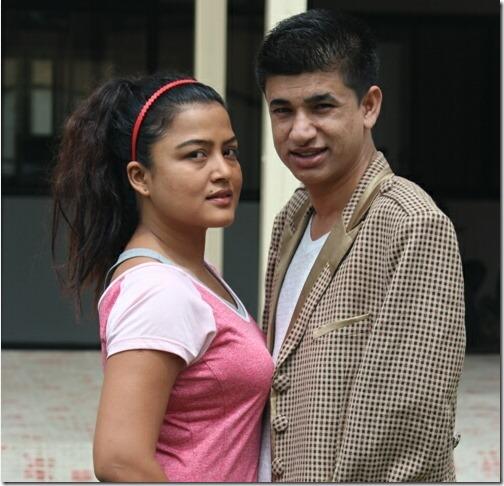 rekha thapa with sudarshan gautam