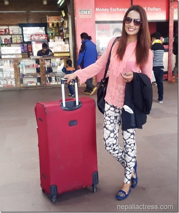 Priyanka Karki at airport to Australia April 9, 2015