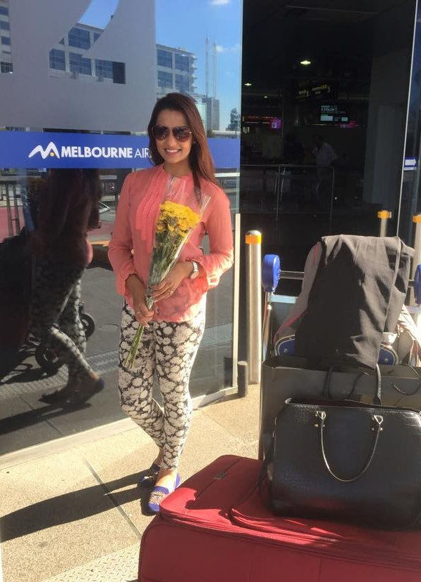 priyanka karki at melbourne airport - nai nabhannu la 3 premier