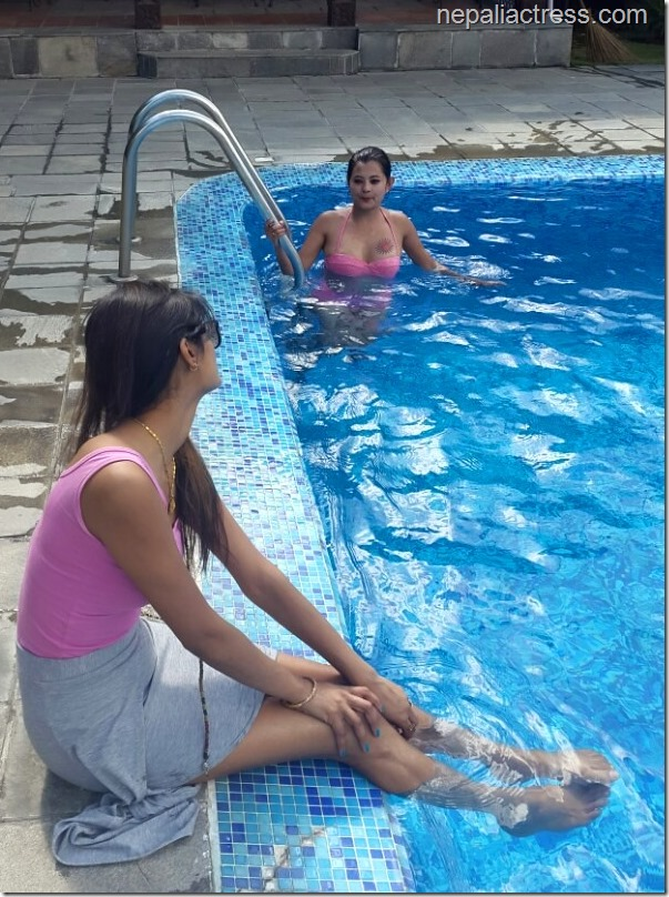 Sushma karki swimming pool4